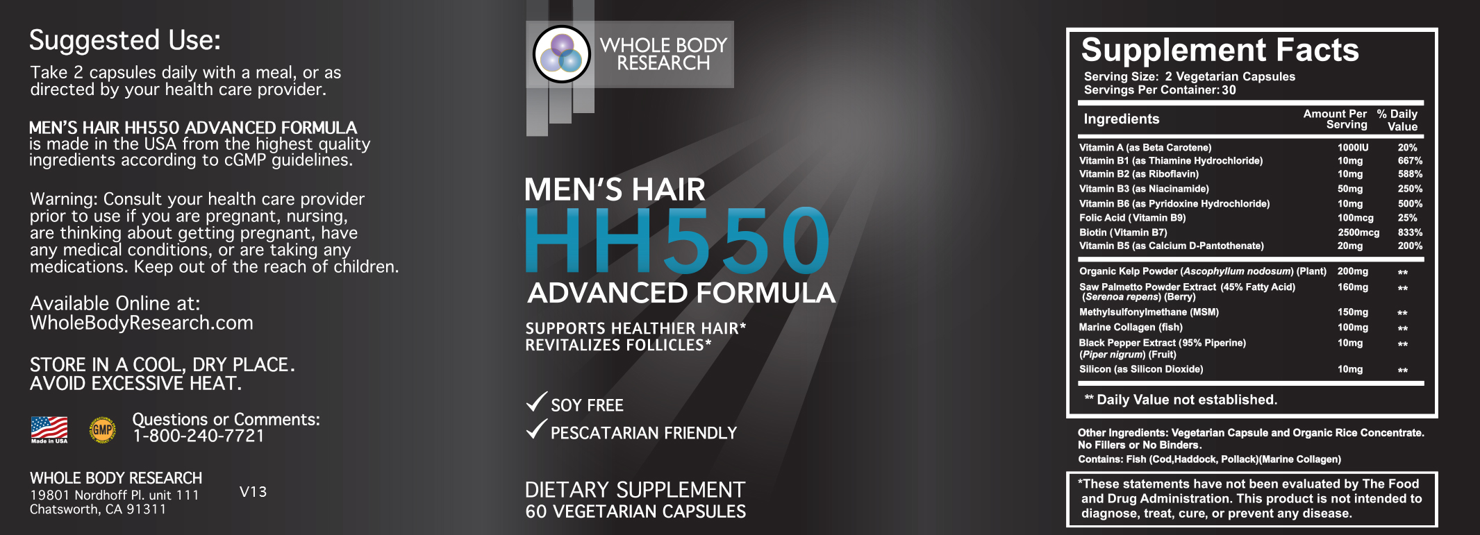 Hh550 Mens Hair Repair To Download Whole Body Research Hh550 Mens