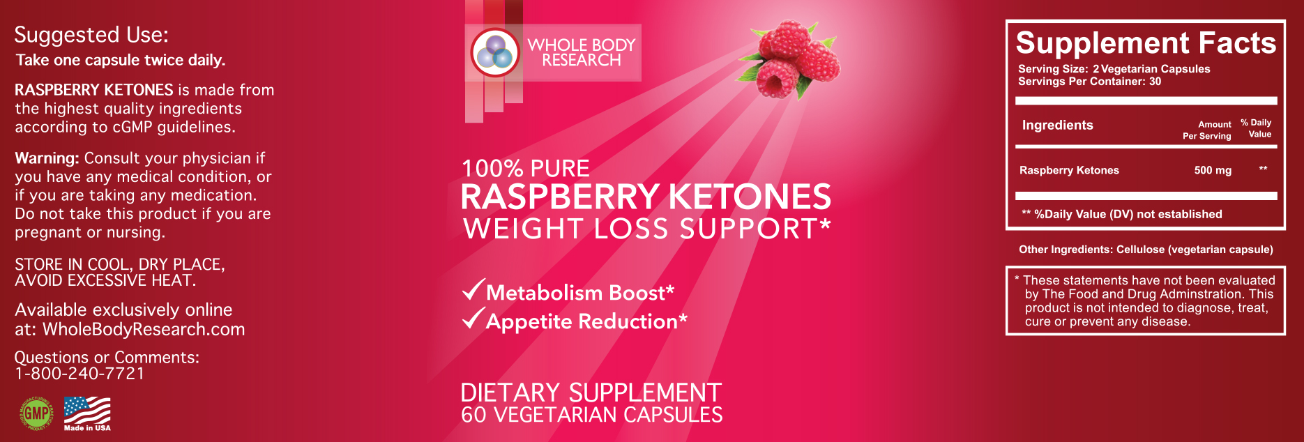 Whole Body Research Raspberry Keytones Sale